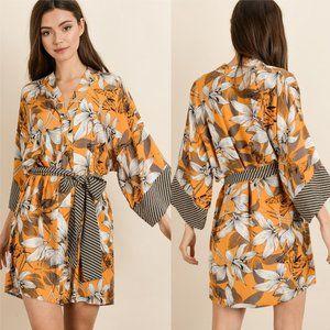 JASMINE Floral Kimono Mini Dress